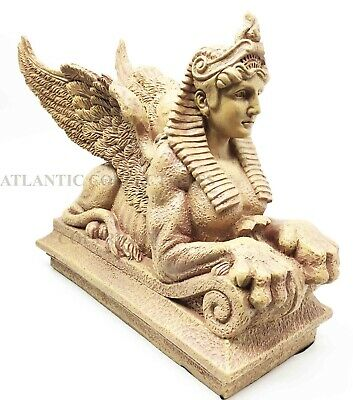 "Legend of Ancient Egypt Gods & Pharaohs Winged Sphinx Guardian Figurine 8"" Long"