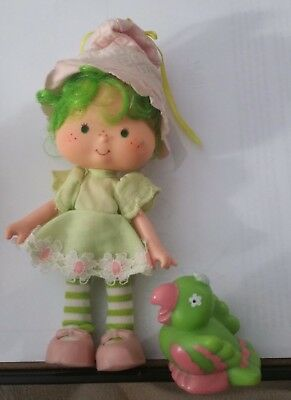 Vintage Strawberry Shortcake Lime Chiffon doll W/Pet Complete, Nice Shape!