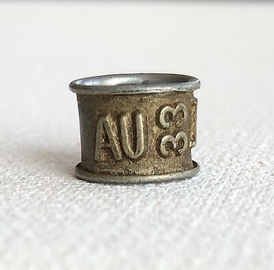 AU Vtg. 1933 Racing Homing Pigeon Leg Band. Marked LM 37