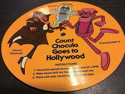 Count Chocula Cereal Box Cardboard Phonograph Record