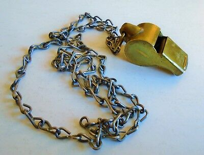 Original Vintage Brass Wwii Military Or Police Whistle Made In The Usa