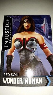 Wonder Woman Red Son Injustice GOLD game card Dave and Buster's