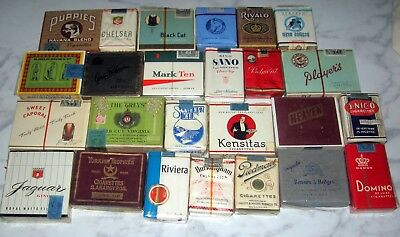Huge Lot Rare Antique Cigarette Packs Empty Puppies Wwii Era Military Vtg Old