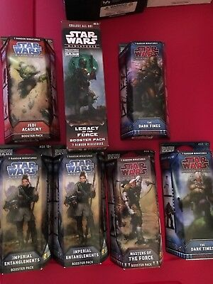 Lot Of 7 Star Wars Miniatures Booster Packs