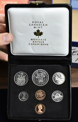 1971 CANADA - 7 Coin Proof Like Set GEM PROOF IN CANADIAN MINT PACKAGING
