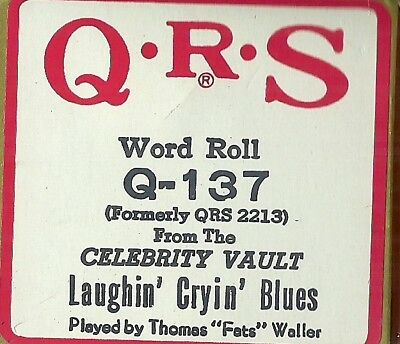 Laughin Cryin Blues, played by Thomas Waller QRS Q-137 Piano Roll recut of 2213