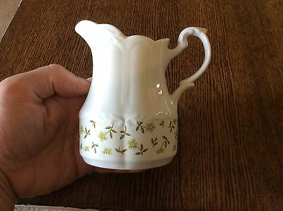 English Ironstone Sterling Colonial Creamer J & G Meakin England