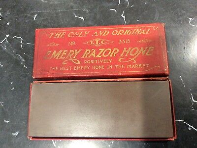 Vintage T.T.C. No 3315 Emery Razor Hone The Only And Original With Box RARE