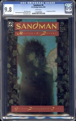 Sandman 8 CGC 9.8 - First Appearance of Death