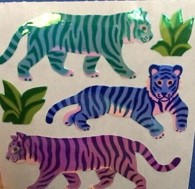 Vintage Sandylion Sticker Tiger Pearly Glanz