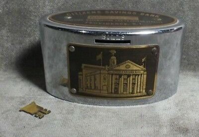 Vintage Citizens Savings Bank Providence RI Clearvue Coin Bank MS5