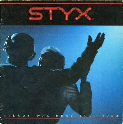 STYX 1983 Kilroy was Here Tour Official Vintage Concert Program Book collectible