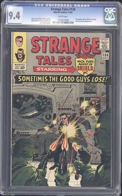 Strange Tales 138 CGC 9.4 - First Appearance of Eternity