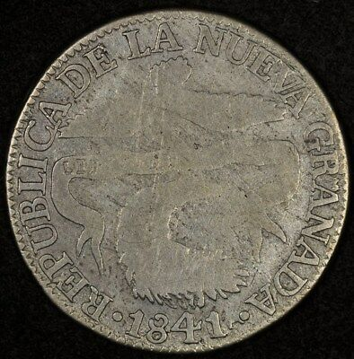 1841/0-Bogota Rs Colombia 2 Reales Good+ Km-97.1 Rare Date