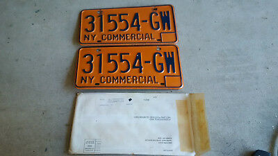 Vintage New York Commercial License Plates