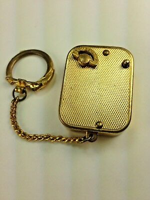 Vintage Reuge St. Croix Key Chain Gold Tone Music Box