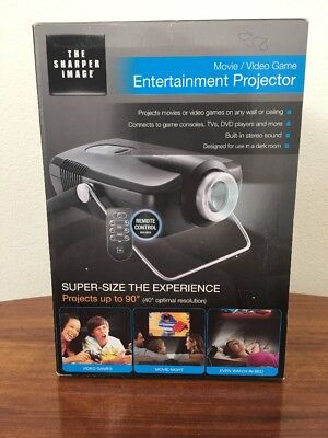 NWT The Sharper Image Movie Video Game Entertainment Projector EC-PJ10
