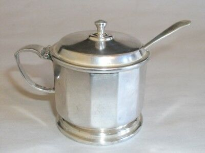 Antique English Sterling Silver Mustard Pot Hukin & Heath 1937