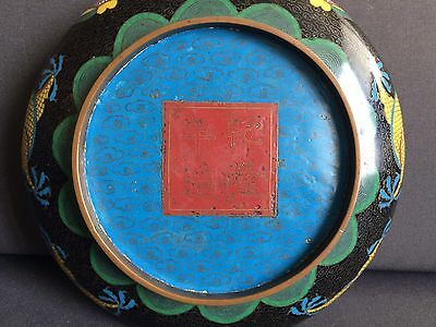 Fine And Large Chinese Cloisonné Dragon Censor Bowl Circa 19th Century