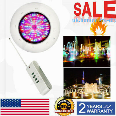 LED Swimming Pool Lights Underwater Spa RGB Multi-Colors +Remote Control 36W 12V