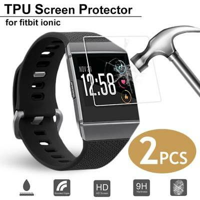 TPU Anti-Scratch Tempered Glass Screen Protector Film For Fitbit Ionic Watch 2PC