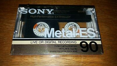 1986 Sony Metal-ES 90 Minute Cassette Tape TYPE IV NOS SEALED