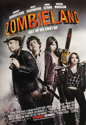 ZOMBIELAND great original 27x40 D/S movie poster (s001)