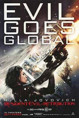 RESIDENT EVIL: RETRIBUTION great original D/S 27x40 movie poster (s001)