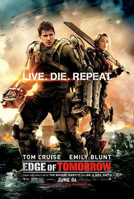 EDGE OF TOMORROW great original D/S 27x40 movie poster (s001)
