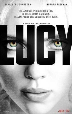 LUCY great original D/S 27x40 movie poster (s001)