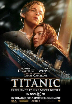 TITANIC great original re-release 27x40 D/S movie poster (s001)
