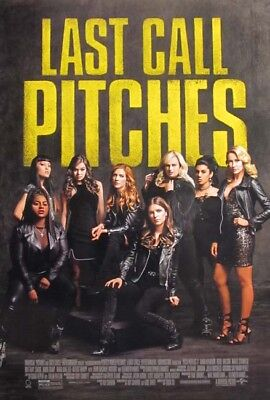 PITCH PERFECT 3 great original 27x40 D/S movie poster (s001)