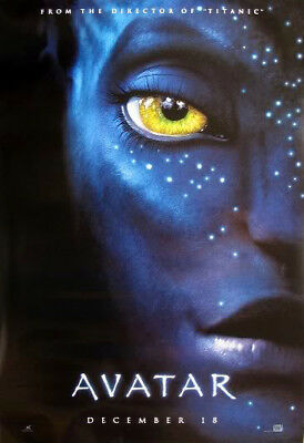 AVATAR great original advance 27x40 D/S movie poster (s001)