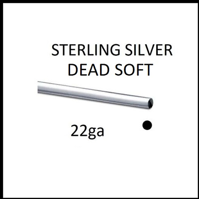 925 Sterling Silver 22 Gauge (0.64mm) Dead Soft Round Wire Jewellery Wrapping