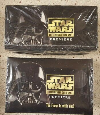 Star Wars CCG UNLimited Edition WB Premiere Booster + Starter Box Factory-Sealed