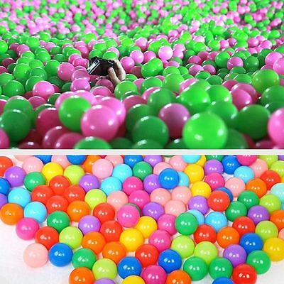 100X Multi-Color Cute Kids Soft Play  Balls Toy for Ball Pit Swim Pit Pool WC