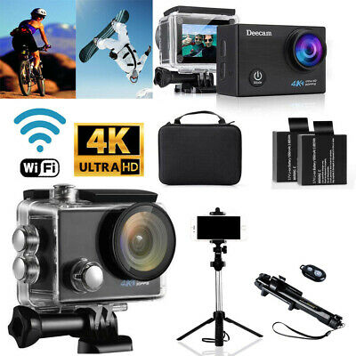 Sport Camera Ultra 4K Full HD 1080P WiFi Action Camcorder  W/ 3 Way selfie Stick