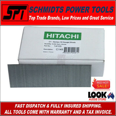HITACHI 14105 45mm GALVANISED C1 SERIES FINISH GUN NAILS 18 GAUGE BRADS 5000 BOX