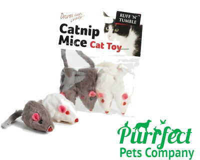 Sharples 'Ruff N Tumble Catnip Mouse Toy Mice Cat Kitten Toys Drives Cats Crazy