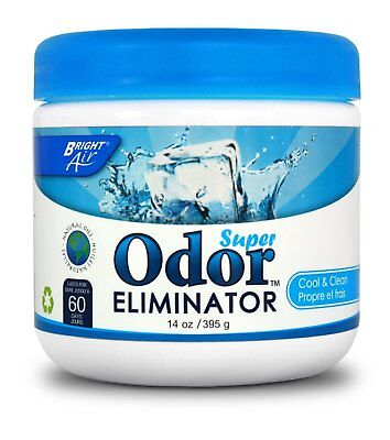 Bright Air Odor Eliminator - Cool and Clean , 14 Ounce Jar Pack of 3