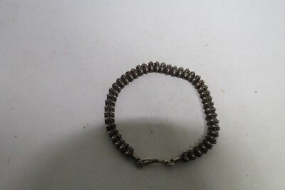 Antique Authentic Hand Made Charming Silver  Woman Chain Bracelet Filigree