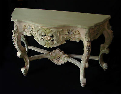 French rococo console Mahogany Mid 18th century, classic design by Juste-Aurele