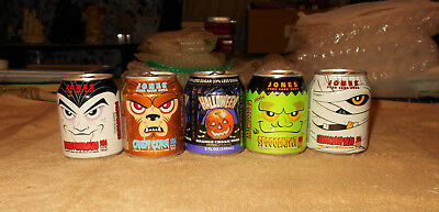 Vintage Monster Halloween Jones Soda Can Lot     VERY COOL   Empty   Horror  HTF