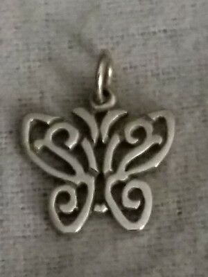 RETIRED James Avery 14k Yellow Gold Open Lace Butterfly Charm FREE SHIPPING