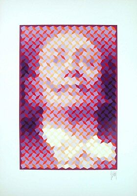Jean-Pierre Vasarely - Faces of Dali #6, hand-signed serigraph