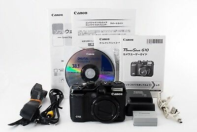 【Excellent-】Canon PowerShot G10 14.7 MP Digital Camera Black from Japan 250084