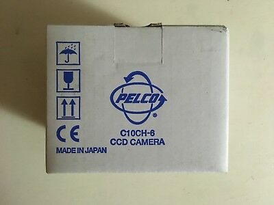 """NEW Pelco C10CH-6 Color High Resolution CCD CAMERA, 1/3"""" Compact, 12/24V, NTSC"""
