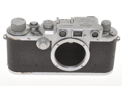 Leitz Leica IIIC iii c chrome 510173 1950 exc++, it works but sold as is
