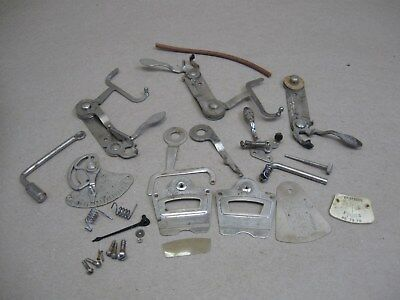 Vtg Victor Victrola Phonograph Restoration Parts Lot Nickel Speed Control Brake
