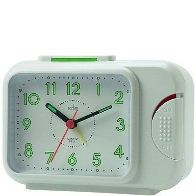 Acctim Bentima Sonnet Bell Alarm Clock With Light And Snooze 12613